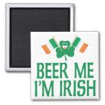Cerveza yo soy irlandés imanes de nevera