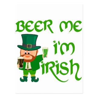 Cerveza yo, soy irlandés tarjeta postal