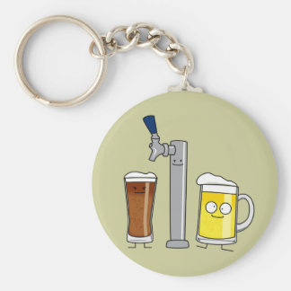 Cervezas de barril felices llavero redondo tipo pin