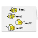 ¡Cervezas de las cervezas de las abejas de las abe Felicitaciones
