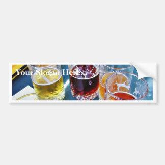 Cervezas de los vidrios pegatina de parachoque
