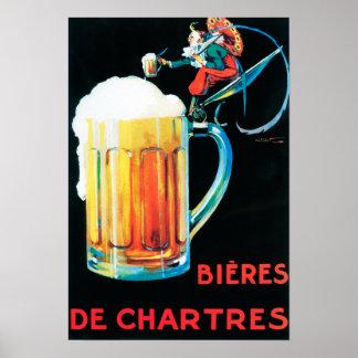 Cervezas del poster promocional de Chartres
