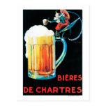 Cervezas del poster promocional de Chartres Postales