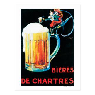 Cervezas del poster promocional de Chartres Tarjetas Postales