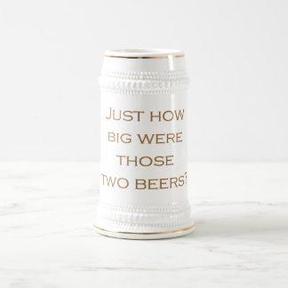 Cervezas grandes taza