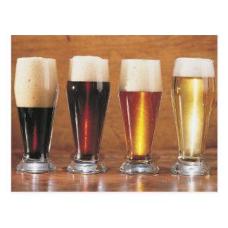Cervezas y cervezas inglesas clasificadas postal