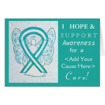 Cervical Cance Awareness Ribbon Custom Cause Cards