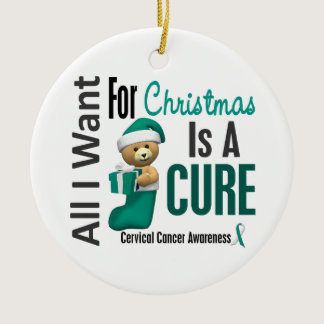Cervical Cancer All I Want For Christmas Ornaments