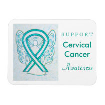 Cervical Cancer Angel Awareness Ribbon Magnet Gift