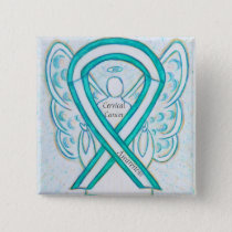 Cervical Cancer Angel Awareness Ribbon Pins