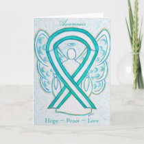Cervical Cancer Awareness Angel Greeting Card