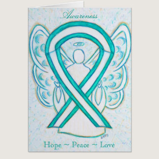 Cervical Cancer Awareness Angel Greeting Card
