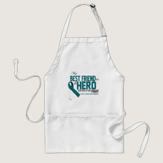 Cervical Cancer Awareness: best friend Adult Apron