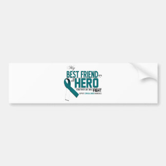 Cervical Cancer Awareness: best friend Bumper Sticker