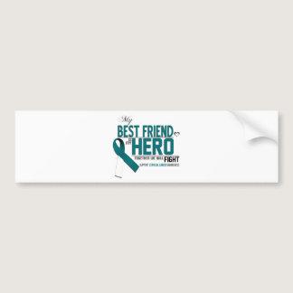 Cervical Cancer Awareness: best friend Bumper Sticker