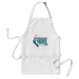 Cervical Cancer Awareness: brother in law Adult Apron