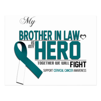 Cervical Cancer Awareness: brother in law Postcard