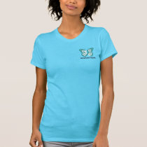 Cervical Cancer Awareness Buttlerfly Front Back T-Shirt