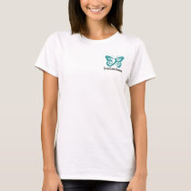 Cervical Cancer Awareness Buttlerfly T-Shirt