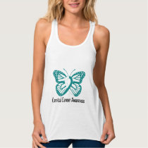 Cervical Cancer Awareness Buttlerfly Tank Top