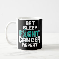 Cervical Cancer Awareness Coffee Mug Teal Ribbon