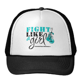 Cervical Cancer Awareness Fight Like a Girl Hats