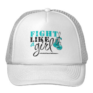 Cervical Cancer Awareness Fight Like a Girl Hat