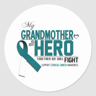 Cervical Cancer Awareness: grandmother Classic Round Sticker