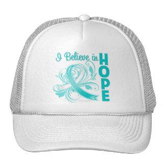 Cervical Cancer Awareness I Believe in Hope Trucker Hats