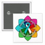 Cervical Cancer Awareness Matters Petals Buttons