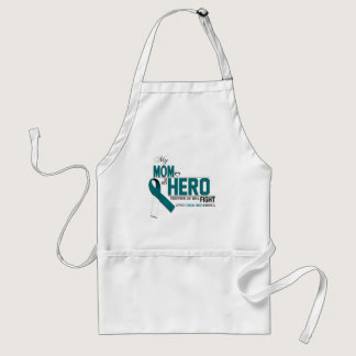 Cervical Cancer Awareness: mom Adult Apron