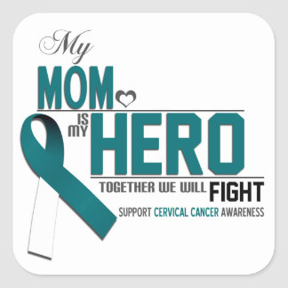 Cervical Cancer Awareness: mom Square Sticker