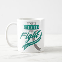Cervical Cancer Awareness Mug Teal Ribbon Gift