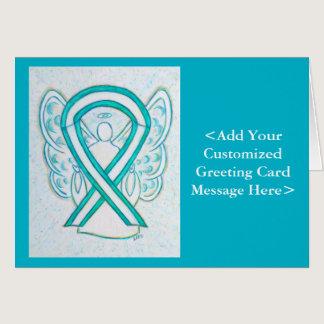 Cervical Cancer Awareness Ribbon Angel Cards