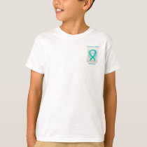 Cervical Cancer Awareness Ribbon Angel Custom Tee