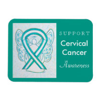 Cervical Cancer Awareness Ribbon Angel Gift Magnet