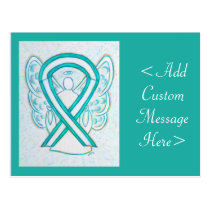 Cervical Cancer Awareness Ribbon Angel Postcard
