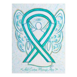Cervical Cancer Awareness Ribbon Angel Postcard