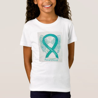 Cervical Cancer Awareness Ribbon Angel Shirt