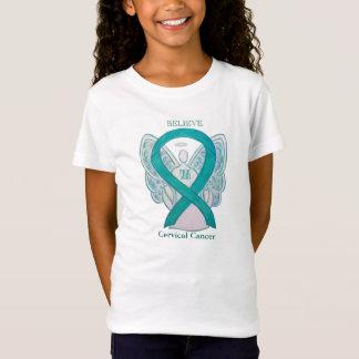 Cervical Cancer Awareness Ribbon Angel Shirts