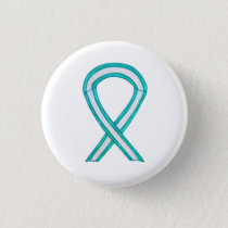 Cervical Cancer Awareness Ribbon Custom Button Pin