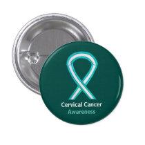Cervical Cancer Awareness Ribbon Custom Button Pin