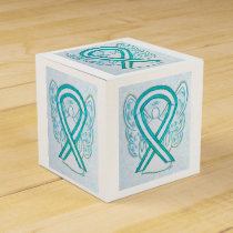 Cervical Cancer Awareness Ribbon Party Favor Box