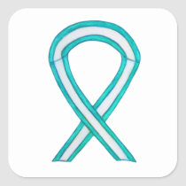 Cervical Cancer Awareness Ribbon Sticker Decals