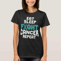 Cervical Cancer Awareness T-shirt Teal Ribbon Gift