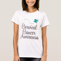 Cervical Cancer Awareness Teal Womens T-shirt