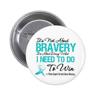 Cervical Cancer Battle Pins