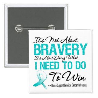 Cervical Cancer Battle Pin