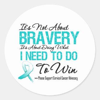 Cervical Cancer Battle Classic Round Sticker