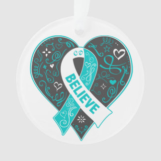 Cervical Cancer Believe Ribbon Heart